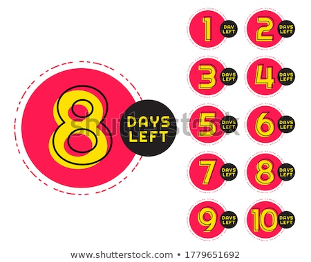 number of days left counter in circular memphis style Stock photo © SArts