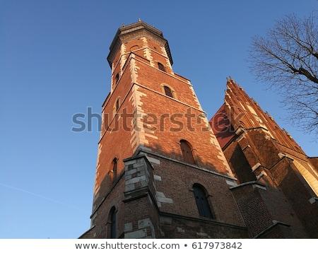 Bazilika krakow Polonya bölge Gotik kilise Stok fotoğraf © borisb17