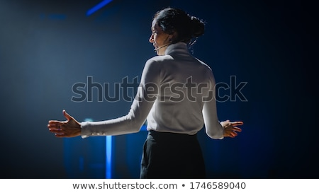 Woman with speaker Stock photo © photography33