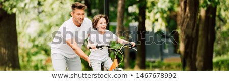 Man with push bike Stock photo © photography33