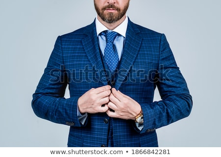 Collar Dress Shirt In Blue Color Tones Stock photo © experimental