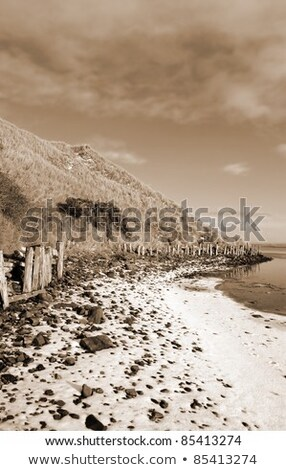 ballybunion beach on a cold grey day Stock photo © morrbyte