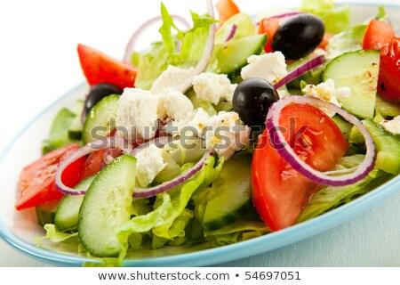 Mozzarella ensalada tomate almuerzo frescos dieta Foto stock © M-studio