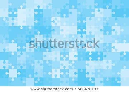 Blu puzzle business sfondo arte giocattolo Foto d'archivio © gladiolus