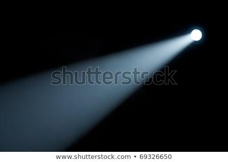 Spotlight · blanc · noir · matériel · d'éclairage · lumière · couple · fond - photo stock © oly5