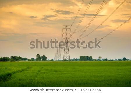 Torre eletricidade blue sky tecnologia quadro Foto stock © meinzahn