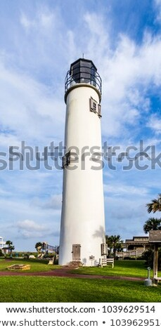 Lighthouse on the Gulf of Mexico in Eastpoint Stock photo © meinzahn