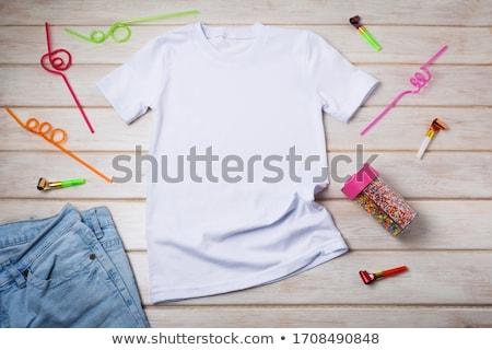 T Shirt Template- party Stock photo © shawlinmohd