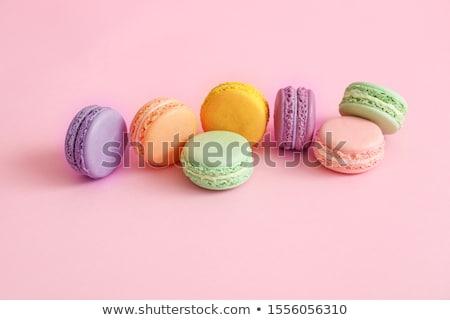 Macaron hozzávalók étel űr tojások tányér Stock fotó © Dar1930