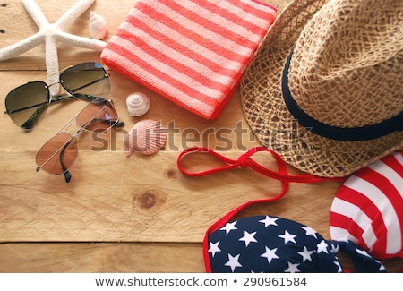 woman in swimwear as the American flag Stock photo © ssuaphoto