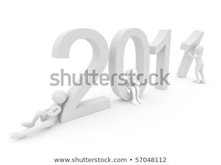 даты 2011 3d визуализации белый человек Сток-фото © fotoaloja