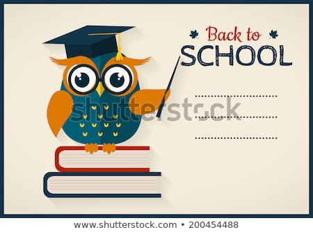 Wise owl at the school board Stock photo © vectorikart