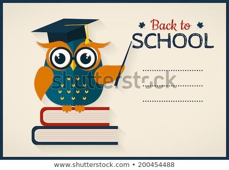 賢い フクロウ 学校 ボード 教師 ストックフォト © vectorikart