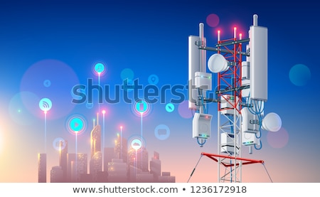 High-Tech Electronic Communications Tower Stock photo © Discovod