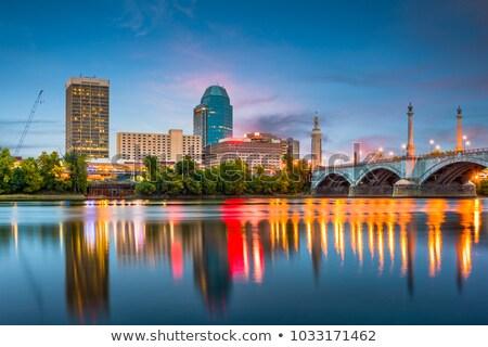 Skyline of Springfield at sunset Stock photo © benkrut