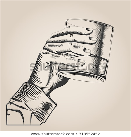 Hands Holding Moonshine Stock photo © albund