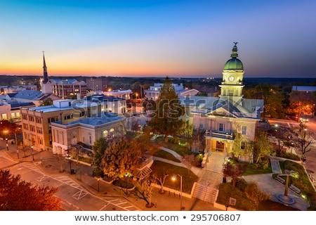 Este város Grúzia éjszaka öreg kő Stock fotó © Kotenko