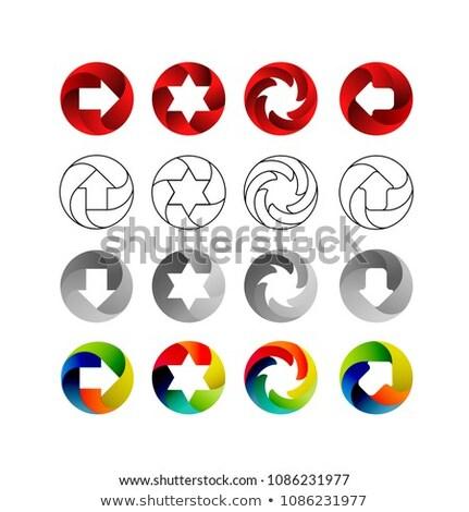 3D · flecha · signos · establecer · diferente · formas - foto stock © m_pavlov