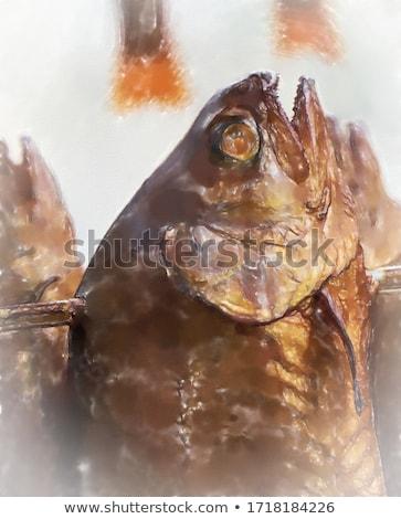 радуга · форель · филе · картофель - Сток-фото © freeprod