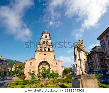 Kilise İspanya Bina şehir çapraz yaz Stok fotoğraf © lunamarina