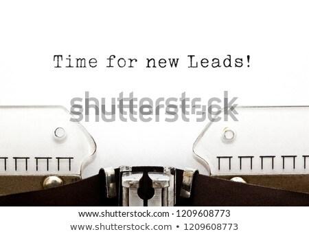 idő · marketing · írógép · nyomtatott · öreg · ír - stock fotó © ivelin