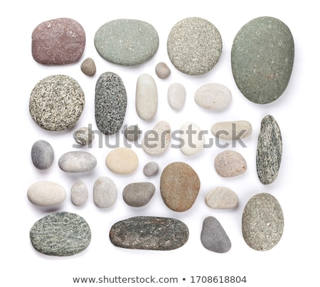 the set of arrangements of rocks isolated on white background cartoon vector close up illustration stock photo © lady-luck