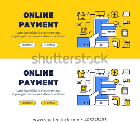 online banking concept cartoon vector banner stock photo © robuart