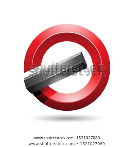 Red and Black Round Glossy Reversed Letter G or A Icon Stock photo © cidepix