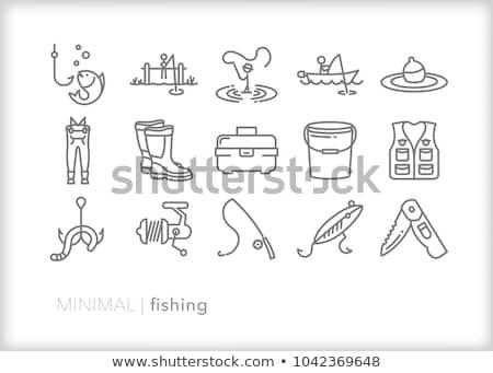 icon of fishing line stock photo © angelp