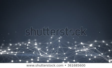 abstract digital triangle mesh network background design stock photo © sarts