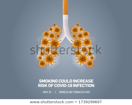 Covid 19 sign template with human lungs Stock photo © bluering