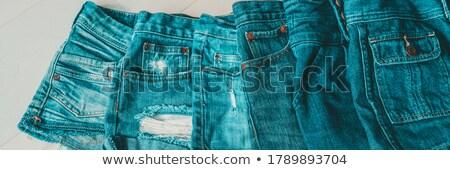 Dżinsy szorty niebieski inny Zdjęcia stock © Maridav