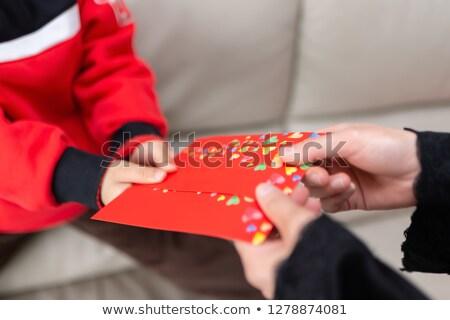 Anne cep para oğul 1000 rus Stok fotoğraf © pekour