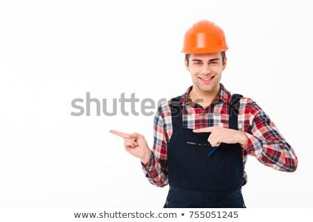 каменщик указывая текстуры строительство стены промышленности Сток-фото © photography33
