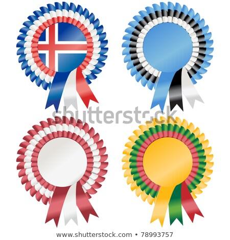 Iceland rosette flag Stock photo © milsiart