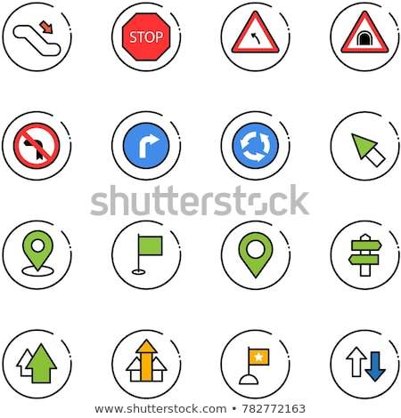 Traffic signs are lined up Stock photo © zzve