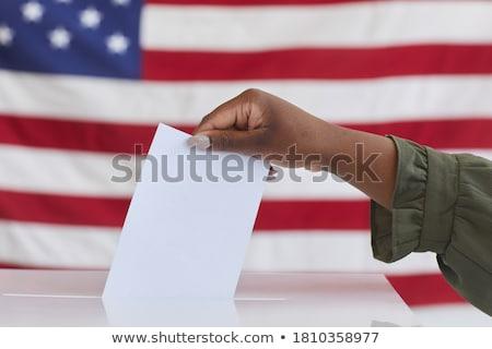 Oy oylama Noel ada bayrak kutu Stok fotoğraf © OleksandrO