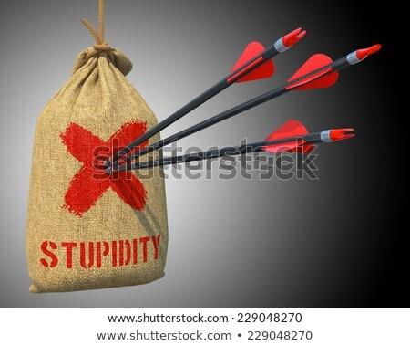 Cretinism - Arrows Hit in Red Mark Target. Stock photo © tashatuvango