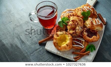 töltött · sütemény · tányér · stock · édes · edény - stock fotó © gemenacom