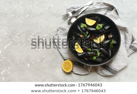 Bowl Of Mussels Stock photo © mpessaris
