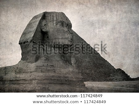 grunge old photo Pyramids in Egypt Stock photo © H2O