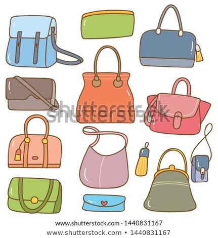 divat · kuplung · táska · pénztárca · művészet · stílus - stock fotó © netkov1