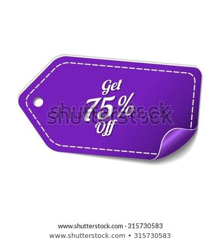 процент фиолетовый вектор икона дизайна цифровой графических Сток-фото © rizwanali3d