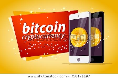 Smart Phone Yellow Vector Icon Design Stock photo © rizwanali3d