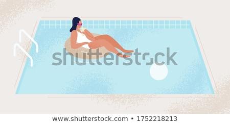 Female Character in Bikini and Sunglasses Illustration Stock photo © robuart