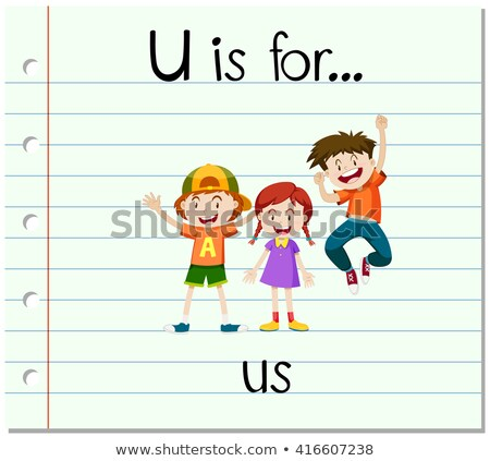 Flashcard letter U is for us Stock photo © bluering