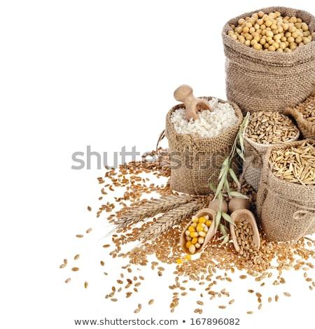 Bütün tahıl yulaf çanak gıda kahvaltı Stok fotoğraf © Digifoodstock