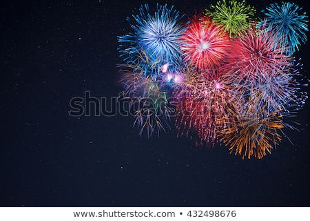 Celebration Multicolored Fireworks Copy Space Photo stock © TasiPas