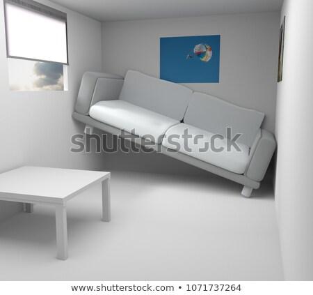 Pequeño moderna habitación 3D pared Foto stock © Wetzkaz