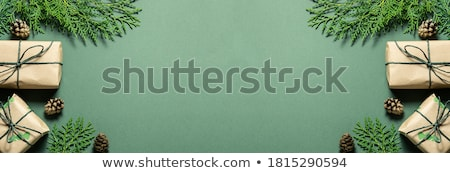 wooden banner with christmas these stock photo © colematt